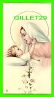 IMAGES RELIGIEUSES - LA VIERGE JOUE AVEC JÉSUS BÉBÉ - BORDURE D'OR - NB No 246 - ÉCRITE EN 1956 - - Images Religieuses