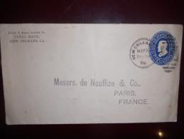 Etats Unis Entier Postal De New Orleans 1898 Pour Paris
