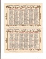 CALENDRIER  1908 - JOSSE RECHERCHES D´HERITIERS - GENEALOGISTE - ROUEN - - Calendars