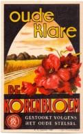 Etiket Etiquette - Genever  - Oude Klare De Korenbloem - Kortrijk - Etiquettes