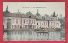 """Vilvoorde / Vilvorde - Auberge """" Les Trois Fontaine """" - Mooie Postkaart Kleuren - Binnenschipen- 191? ( Verso Zien ) - Vilvoorde"""