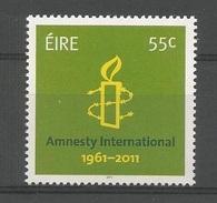 2011 - IRLANDA / IRELAND - 50° ANNIVERSARIO DI AMNESTY INTERNATIONAL / 50th ANNIVERSARY OF AMNESTY INTERNATIONAL. MNH - 1949-... Repubblica D'Irlanda