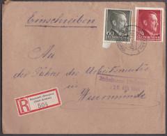 Nb_ Generalgouvernement - Mi.Nr.  78 + 84 - Einschreiben Neumarkt Dunajec - Wesermünde - Besetzungen 1938-45