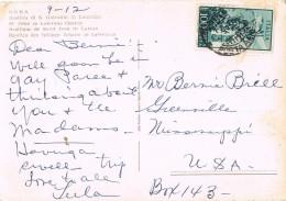 19657. Postal Aerea ROMA (Italia) 1957 To USA - 6. 1946-.. República