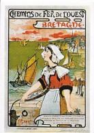 PUBLICITE TRANSPORT CHEMINS DE FER DE L'OUEST  BRETAGNE  C. MARIE 2994 EDIT. MIC MAX - Chemins De Fer