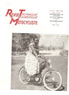 Moto Revue Technique Motocycliste N°137 JUIN 1958 Etude Des TIGER CUB TRIUMPH - Auto/Motorrad