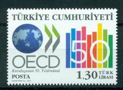 2011 - TURCHIA / TURKEY - CINQUANTESIMO DELL´OCSE / OECD - FIFTIETH OECD / OECD. MNH - Nuevos