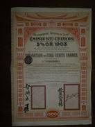 Emprunt Chinois 5% 1903 - Banque & Assurance