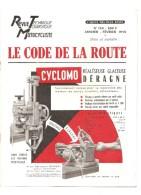 Moto Revue Technique Motocycliste N°134 Janvier Février 1958 Le Code De La Route - Auto/Motorrad
