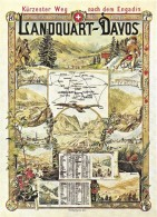 PUBLICITE TRANSPORT CHEMINS DE FER  LANDQUART-DAVOS  NR1890  EDIT. BIREGG - Autres