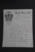 Lettre Ancienne Publicitaire, SALON , HUILES - PASCAL Père Et Fils. - 1800 – 1899
