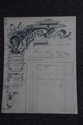 Facture Ancienne Publicitaire, ST ETIENNE , Imprimerie , Lithographie, Papeterie A.WATON - 1800 – 1899