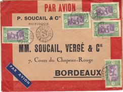 Enveloppe Par Avion De Rufisque, 1936. - Sénégal (1887-1944)