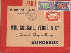 Enveloppe Par Avion De Rufisque, Avec Timbre N°YT100 (cote 70,00 €), 1937. - Sénégal (1887-1944)