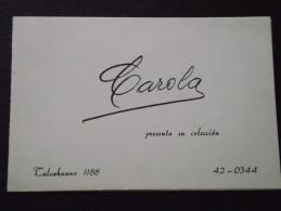 TALCAHUANO (Chili) - COLLECTION CAROLA - HAUTE-COUTURE - Invitation - -Berthe, Nelly Renée, Christian DIOR - A Voir ! - Sin Clasificación