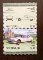 NUI TUVALU Automobiles, Voitures, Cars, Coches, CITROEN Maserati SM Coupé 2 Valeurs **  MNH - Coches
