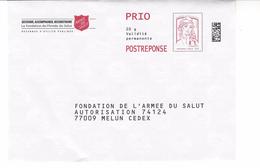 PAP REPONSE MARIANNE DE CIAPPA : ARMEE DU SALUT - Entiers Postaux