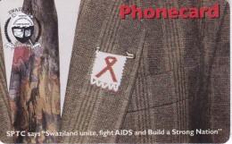 TARJETA DE SWATZILAND DE 15 UNITS SOBRE EL SIDA (AIDS) - Swaziland