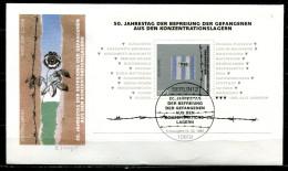 """Künstler First Day Cover Germany 1995 Mi.Nr.1796,Block 32 Ersttagsbrief""""Block-50.Jahrestag Befreiung Aus Den KZ """"1 FDC - FDC: Buste"""