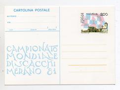 Italia - 1981 - Merano (Bolzano) - Campionato Mondiale Di Scacchi -  (FDC1139) - Scacchi