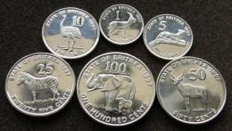 Eritrea Set  1 5 10 25 50 100 Cents 1997 - Eritrea
