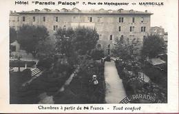 """Hotel """"Paradis Palace"""" 7 Rue De Madagascar Marseille Chambres à Partir De 8 Francs - Tout Confort - Marseille"""