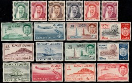 ~~~  Kuwait 1961 - Definitives In Fils & Dinar - Mi. 145/162 ** MNH CV 85.00 € - Top Set ! ~~~ - Kuwait