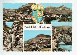 Aun 413   Cpm SAHUNE  Jolie Carte Photo Multivues  1968 - France