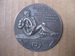 Argentine Médaille Compagnie Française De Chemins De Fer à Santa Fe 1903 Par J. GOTTUZZO - Non Classés
