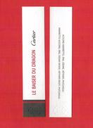 Cartes Parfumées Carte LE BAISER DU DRAGON De  CARTIER RECTO VERSO - Modernes (à Partir De 1961)