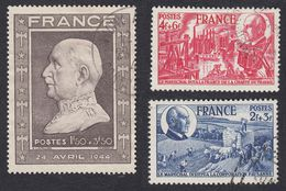 FRANCE - 1944 - Série Complète Yvert 605/608, Obliteré, Pétain - France