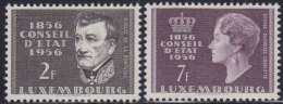 4816. Luxembourg 1956 Centenary Of State Council, MNH (**) Michel 559-560