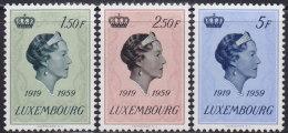 4825. Luxembourg 1959 Grand Duchess Charlotte, MNH (**) Michel 601-603