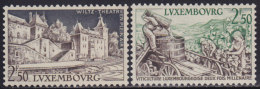 4824. Luxembourg 1958 Landscapes, MNH (**) Michel 593-594