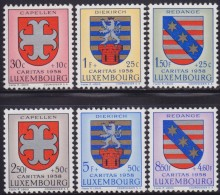 4826. Luxembourg 1958 Coat Of Arms, MNH (**) Michel 595-600