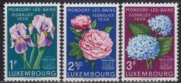 4829. Luxembourg 1959 Mondorf-les-Bains - Flowers, MNH (**) Michel 606-608