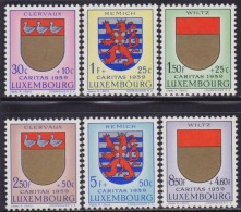 4830. Luxembourg 1959 Coat Of Arms, MNH (**) Michel 612-617