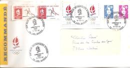 1992 Jeux Olympiques Albertville. Les Saisies  .Recommandé (site Du Ski Nordique).  (lettre Comité D'Organisation)