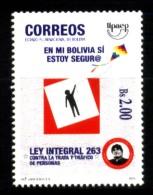 BOLIVIE  BOLIVIEN BOLIVIA 2015 UPAEP AMERICA AVOID VIOLENCE YV  NEUF MNH POSTFRISCH - Bolivia