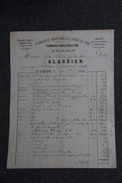 Facture Ancienne Publicitaire, ST ETIENNE, Fabrique D'Appareil Pour Le GAZ, OLAGNIER - 1800 – 1899