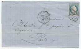 - Lettre - ISERE - GRENOBLE - GC.1716 S/TP Siège N°37 + Càd Type 17 - 1871
