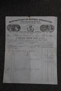 Facture Ancienne Publicitaire, LYON, Manufacture De Bougies Stéariques, Blanchisserie De Cire, J.DAVID,BOIN Fils Et Cie. - 1800 – 1899