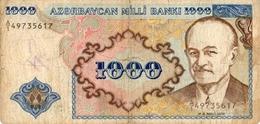 BILLETS DE BANQUE  AZERBAYCAN  1000 BANKI - Azerbaïdjan