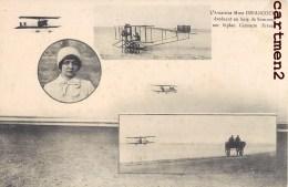 L'AVIATRICE Mme DRIANCOURT EVOLUANT EN BAIE DE SOMME BIPLAN CAUDRON FRERES AVIATION 80 CROTOY - Airmen, Fliers