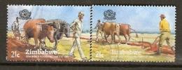 Zimbabwe 1983 - Agriculture - Labour Attelé - Boeufs - Vaches - SC 462/63 ° - Zimbabwe (1980-...)