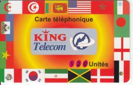 FRANCE - Flags, King Telecom Prepaid Card 120 Unites, Exp.date 28/02/99, Used - France