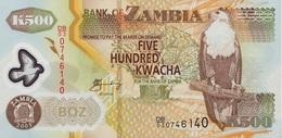 BILLETS  ZAMBIE  500 KWACHA - Zambie