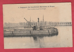 Brugge - Compagnie Des Installations Maritimes - Tête Du Môle Du Port - 1906 ( Verso Zien ) - Brugge