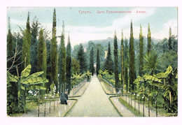 Soukhoum. Villa Roukavichnikov. L`allee - 1914 - Ukraine - Russia - Timbre/Stamp - Russie