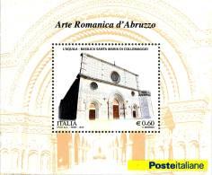 ITALIA REPUBBLICA 2010 - Arte Romanica D'Abruzzo.  Foglietto ** -  UNIF. N. BF53 - Blocchi & Foglietti